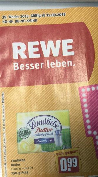 [ REWE Nord KW 39 ] evtl BW Landliebe Butter für 99Cent  = 44% billiger