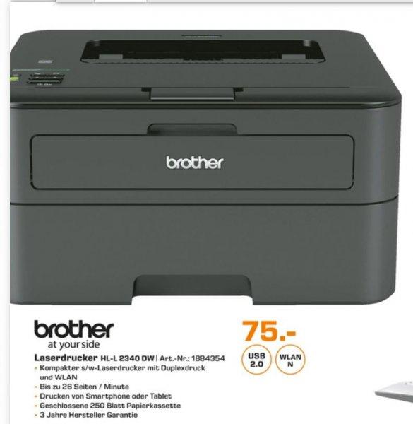 [Berlin Saturn] - Laserdrucker s/w Brother HL-L 2340DW - echtes Duplex + WLAN - 4,3 Amazon Sterne - 25% Ersparnis