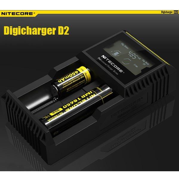 Nitecore Digicharger D2 Akkuladegerät