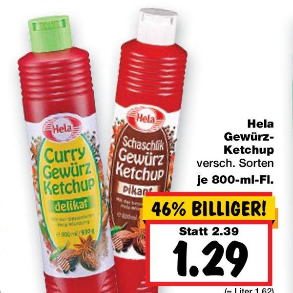 Hela Gewürzketchup 800ml nur 1,29 € ab 1.10 [Kaufland ohne BY und BW]
