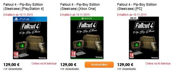 Fallout 4-Pip-Boy Edition *Xbox One* noch vorbestellbar (libro.at)