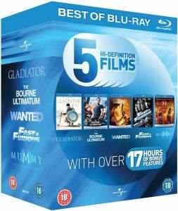 Blu-Ray Starter Pack (5 Filme) für 8,96€ bei Zavvi.com