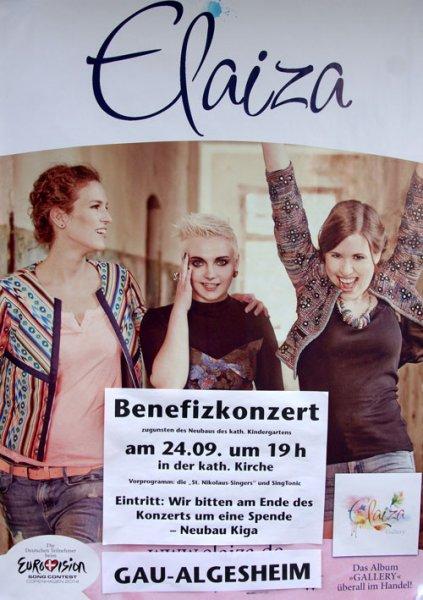 Heute  - Elaiza – Benefizkonzert in Gau-Algesheim um 19 Uhr