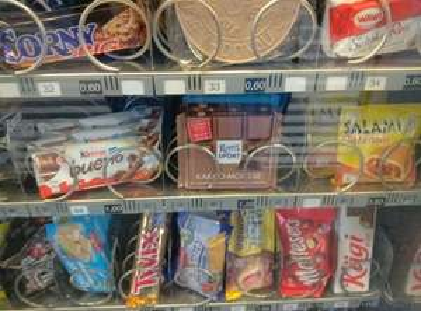 [lokal Nürnberg] Preisfehler Ritter Sport Schokolade am Hauptbahnhof (Süßigkeiten Automaten) @Gleis 5