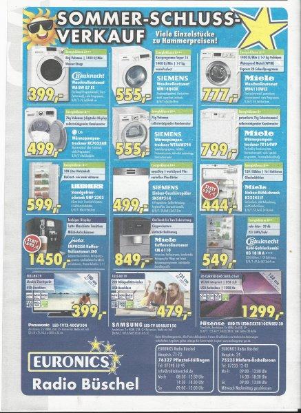[Lokal][KA + PF] SSV bei Euronics | Trockner,Waschmaschine, Kühlschrank im Angebot