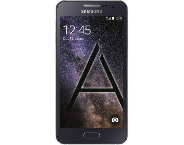 """Samsung Galaxy A3 Smartphone (LTE, 16 GB, + microSDXC Steckplatz, 4.5"""" 960 x 540 Pixel, Super AMOLED, Schwarz, Neuware) in schwarz oder weißfür 189€ @ Allyouneed"""