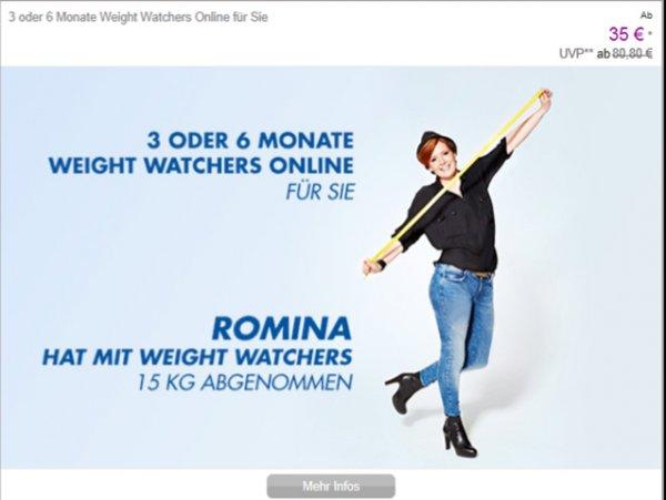 Weight Watchers online - 35€ statt 80€ für 3 Monate bei vente-privee