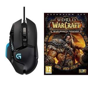 Logitech Proteus Core G502 Gaming Maus + World of Warcraft: Warlords of Draenor (Add-On) (PC/Mac) für 60,74€ bei Amazon.fr