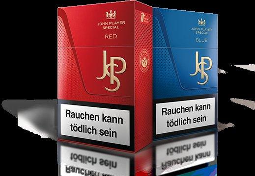 1 gratis Schachtel JPS Pack Flip (rot oder blau)