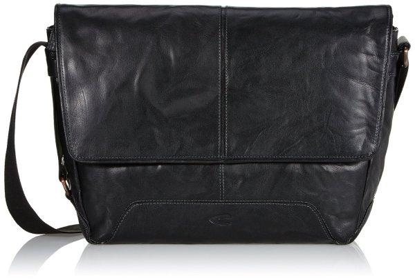 Camel active Rustico Messenger Bag Echtleder schwarz für 58,87 @amazon.de