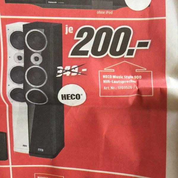 [LOKAL] @Mediamarkt Stgt-Vaihingen (BW) HECO Music Style 900