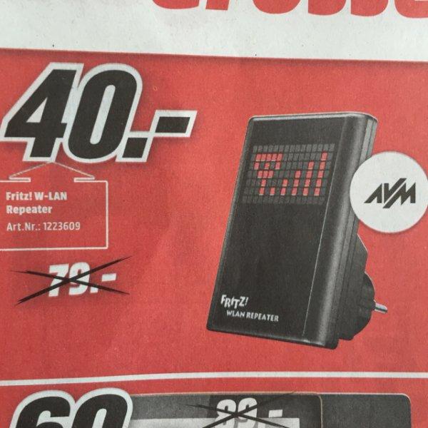 [LOKAL] Mediamarkt Stgt-Vaihingen / AVM Fritz!WLan Repeater N/G (statt 79€)