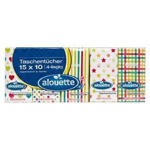 Rossmann: Taschentücher alouette 15x 10 nur 0,55 €