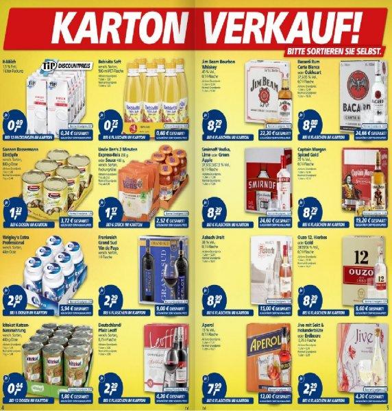 Kartonverkauf bei Real unter anderem Captain Morgan pro Flasche (8,79€)