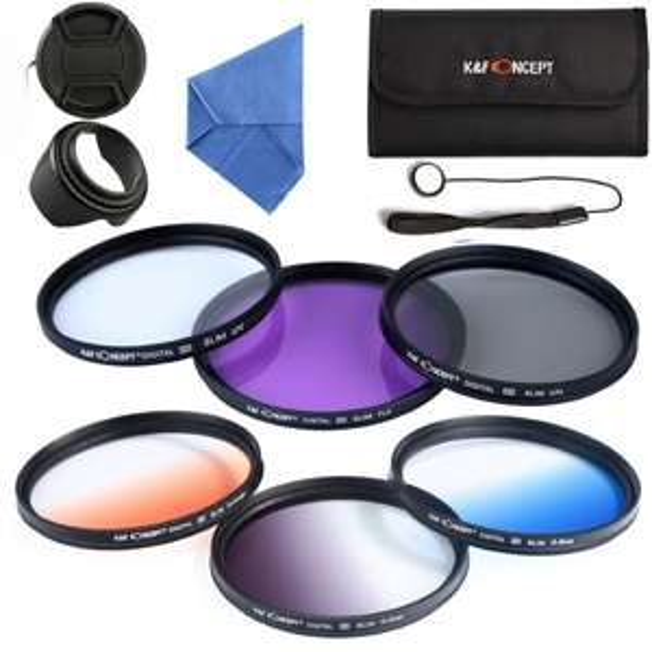 K&F Concept 11 teiliges 67mm UV CPL FLD Filter + 3 Verlaufsfilter nur 29,99EUR @FBA