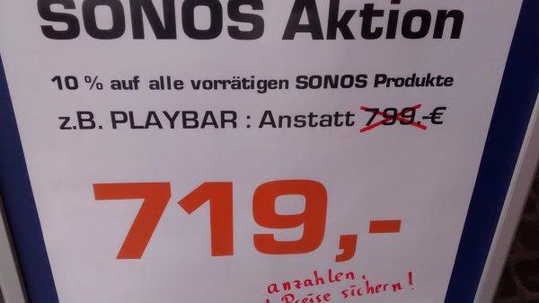 Lokal Saturn Dortmund City 10% auf Sonos Produkte z. B. Playbar für 719€