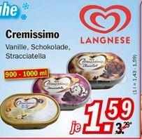 Zimmermann Langnese Cremissimo vers. Sorten nur 1,59 € ab 28.09.2015