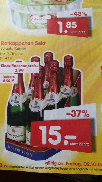 [Netto o.H.] Rotkäppchen Sekt versch. Sorten 6 x 0,75l (2,50 € / Flasche)