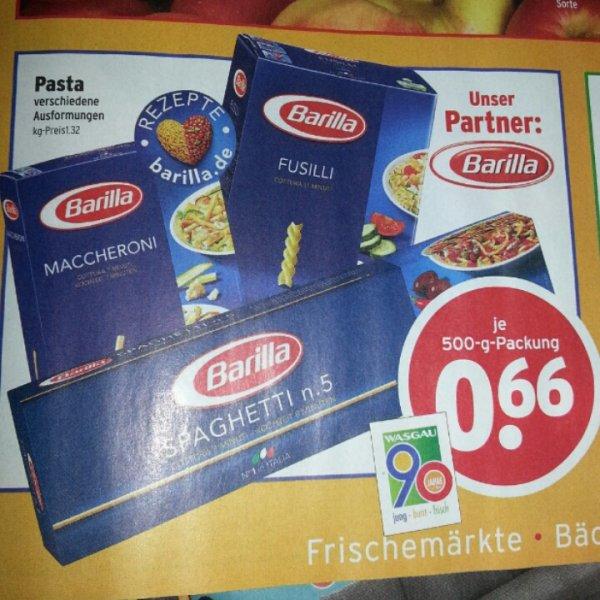 [Wasgau] Markt lokal? Barilla Pasta 500gr - 66ct. 28.09-02.10