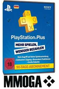 Playstation Plus 90 Tage 15,99€ @MMOGA (eBay)