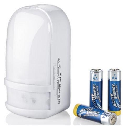 [Aldi Süd] LED Nachtlicht [230V o. Batterie o. Farbwechsel] mit Bewegungsmelder, Dämmerungsautomatik