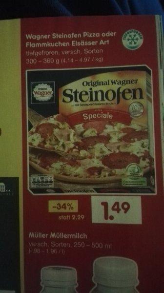 Wagner Steinofen Pizza, netto ohne Hund