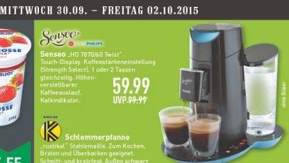 [Marktkauf evtl. nur regional Münster ab Mittwoch, 30.09.] Philips Senseo HD7870/60 Twist Kaffeepadmaschine für 59,99€ (Idealo ab 74,90€)