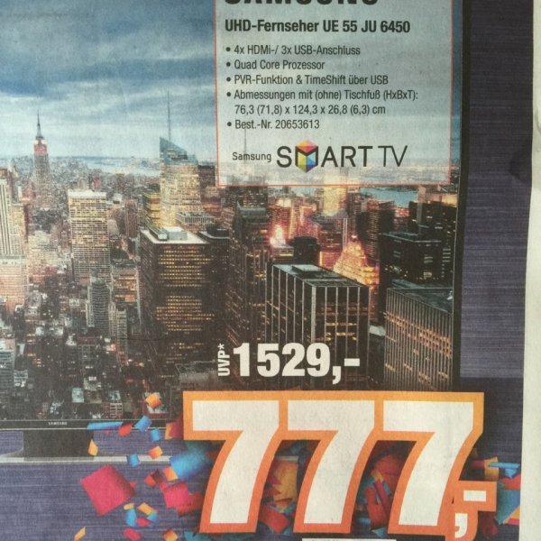 Expert Lüneburg - Samsung UE55JU6450 - 4k - 777€