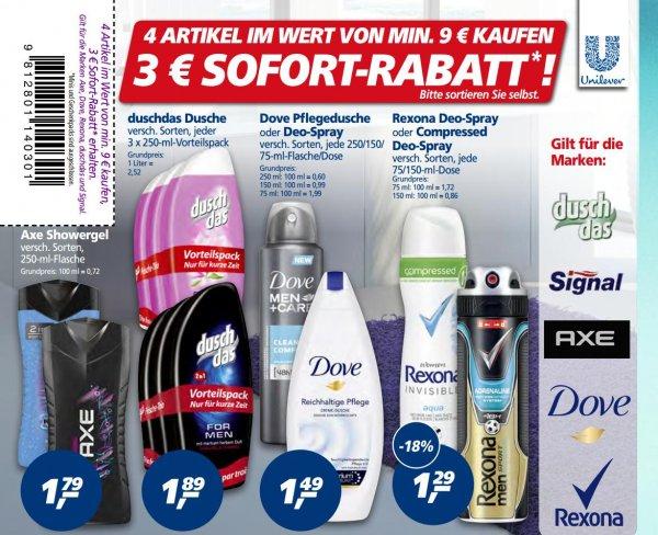 [REAL] 7x Dove Deo Spray 150/75ml bzw. Dove Pflegedusche 250ml für 7,43€ (=1,06€/Stück) + Gratis Wellnessbehandlung nach Wahl // 15x Duschdas für 0,43€/Stück
