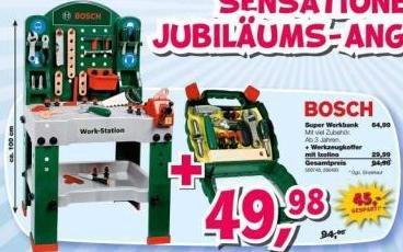 [ToysRus - lokal?] Bosch Super Werkbank inkl. Werkzeugkoffer (offline)