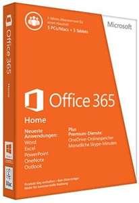 [Conrad] Microsoft Office 365 Home Vollversion, 5 Lizenzen Office-Paket für 58,89€