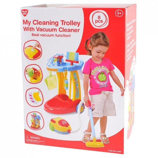(Spielzeug/Prime) Putzwagen mit Staubsauger für 16,22 €