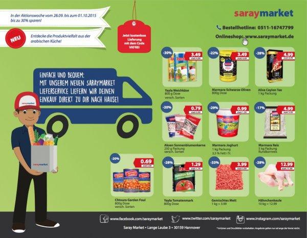 LOKAL HANNOVER // saraymarket Kostenloser Lieferservice & bis zu 30% sparen