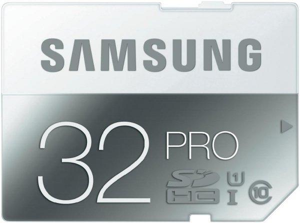[Voelkner] 2x Samsung SDHC Pro 32GB Class 10 / UHS I (R.: 90 MB/s & W.: 50 MB/s) für 23,80€