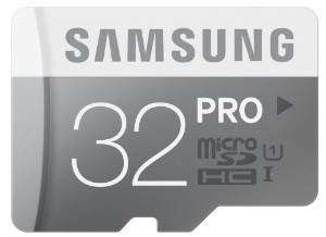[Amazon Prime] Samsung microSDHC Pro 32GB Class 10 / UHS I (Lesen: 90 MB/s/ Schreiben: 60 MB/s) inkl. SD-Adapter für 15€