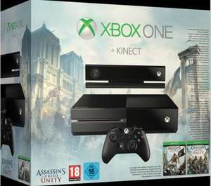 Xbox One Konsole 500GB inkl. Kinect und Assassin's Creed Unity und Black Flag