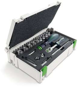 "Festool Ratschen-Set 1/4"" CE-RA-Set 37 00497881 für 59,58 € @Amazon.it"