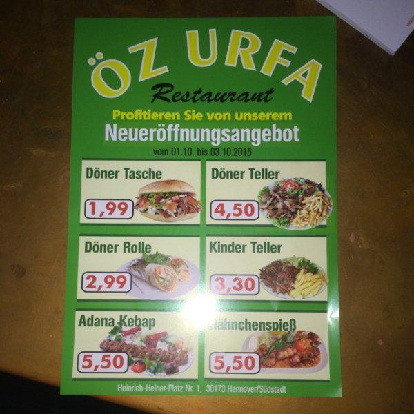 {LOKAL Hannover Südstadt} Döner für 1,99, Rolle 2,99, Adana Kebab 5,50