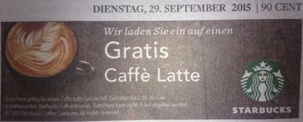 [Welt Kompakt ePaper gratis] Starbucks Gutschein für Caffè Latte bis 02.10.