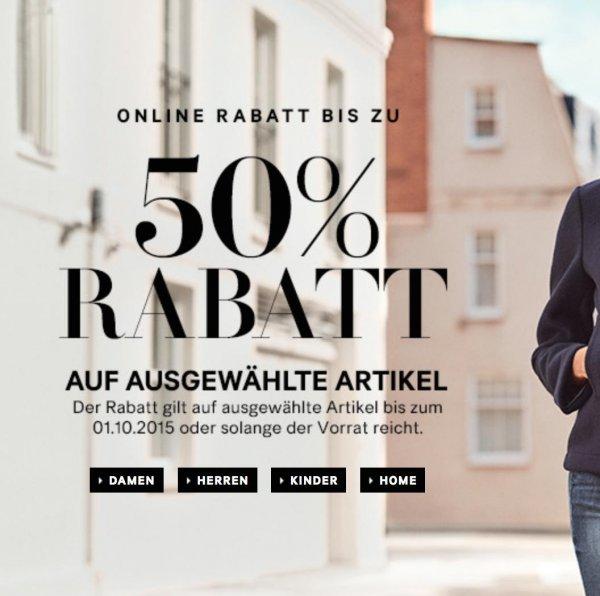 [H&M ONLINE] ausgewählte Herbstmode 50% günstiger (nur 3 Tage!!) + gratis Versand