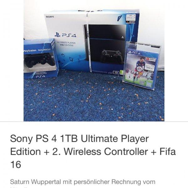 Ps4 1TB + FIFA 16+ 2 Ter Controller Saturn eBay