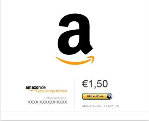 Amazon Gutschein 1,5 € für 1€