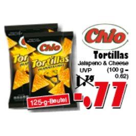 [JAWOLL] Chio Tortillas Jalapeño & Cheese 125g für 0,77€