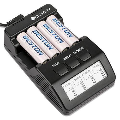 Amazon.de: Etekcity BT-C700 Ladegerät Batterieladegerät Akku-Ladegerät 12V für AA/AAA-Akkus