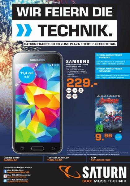 [Lokal Saturn Frankfurt-Offenbach-Neu Isenburg] Samsung S5 Mini ohne Vertrag für 229 €
