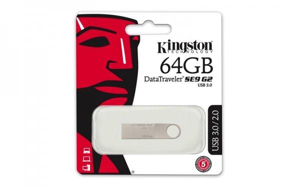 "Kingston™ - 64GB USB-Speicherstick ""DataTraveler SE9 G2"" (USB3.0,100/15 MB/s) für €17,59 [@Mymemory.co.uk]"