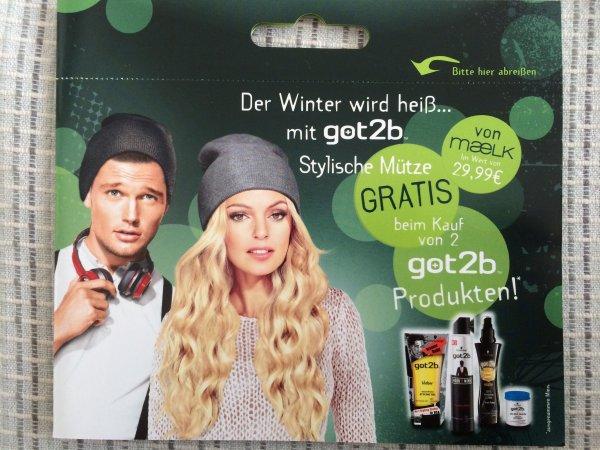 2 got2b Produkte nach Wahl kaufen -> gratis Wintermütze von maeLK erhalten