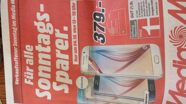 Lokal: Samsung Galaxy S6 32GB 379€ , Mediamarkt Halstenbek