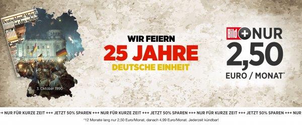 Bild+ inkl. Bundesliga für 2,50€/monatlich oder 25,00€/jährlich