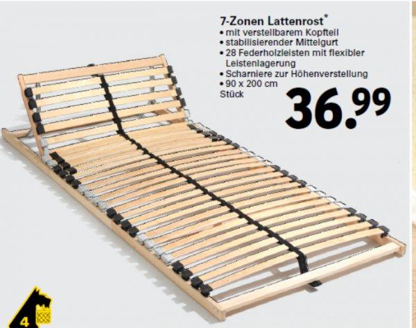 netto mit hund 7-Zonen Lattenrost mit verstellbarem Kopfteil ab 5.10